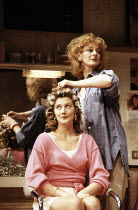 l-r: Joely Richardson (Shelby), Maggie Steed (Truvy) in STEEL MAGNOLIAS by Robert Harling at the Lyric Theatre, London W1 07/03/1989  set design: Eileen Diss costumes: Lindy Hemming lighting: Mick...