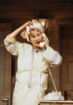 Rosemary Harris (M'Lynn) in STEEL MAGNOLIAS by Robert Harling at the Lyric Theatre, London W1 07/03/1989  set design: Eileen Diss costumes: Lindy Hemming lighting: Mick Hughes director: Julia McKe...