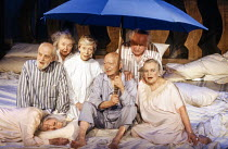 front left, lying down: Margery Withers (Marjorie) seated, l-r: John Boswall (Captain), Joan White (The Couple), Vivienne Burgess (Spinster), Charles Simon (Charles), Donald Bisset (The Couple), Ruth...