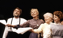 l-r: David Hargreaves, Vanessa Redgrave, Rachel Kempson, Angela Richards in CHEKHOV'S WOMEN at the Lyric Theatre Hammersmith, London W6 07/03/1989  directed by Vanessa Redgrave & David Hargreaves
