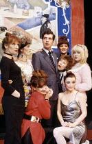 clockwise from the left: Charlotte Cornwell (Sarah), Helen Gemmell (Kathy), Marc Sinden (Charles), Sandy Ratcliff (Maggie - rear), Henrietta Baynes (Julie), Mary Sheen (Nellie - peering round), Lesley...