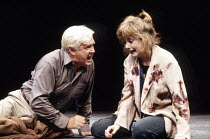 John Stride (Robert), Maria Miles (Juliet) in KING LEAR IN NEW YORK by Melvyn Bragg at the Chichester Festival Theatre, West Sussex, England 08/07/1992  set design: Simon Higlett costumes: Binnie...
