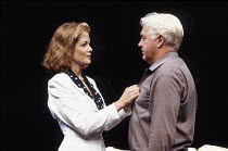 Jenny Seagrove (Bett), John Stride (Robert) in KING LEAR IN NEW YORK by Melvyn Bragg at the Chichester Festival Theatre, West Sussex, England 08/07/1992  set design: Simon Higlett costumes: Binnie...
