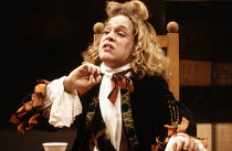 Tom Hollander (Witwoud) in THE WAY OF THE WORLD by Congreve at the Lyric Theatre Hammersmith, London W6 20/10/1992  set design: Tom Piper costumes: Moggie Douglas lighting: Steven Wentworth direct...