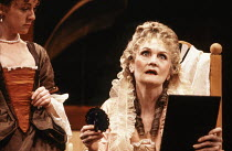 l-r: Wendy Nottingham (Foible), Sheila Hancock (Lady Wishfort) in THE WAY OF THE WORLD by Congreve at the Lyric Theatre Hammersmith, London W6 20/10/1992  set design: Tom Piper costumes: Moggie Do...