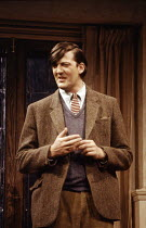 Stephen Fry (Humphrey) in THE COMMON PURSUIT by Simon Gray at the Phoenix Theatre, London WC2 07/04/1988  design: David Jenkins lighting: Leonard Tucker director: Simon Gray