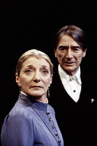 Jane Lapotaire (Mrs Alving), John Carlisle (Pastor Manders) in GHOSTS by Ibsen at the Royal Shakespeare Company (RSC), The Pit, Barbican Centre, London EC2 06/04/1994  in a translation by Michael...