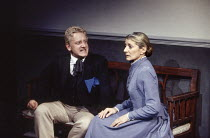 Simon Russell Beale (Oswald), Jane Lapotaire (Mrs Alving) in GHOSTS by Ibsen at the Royal Shakespeare Company (RSC), The Pit, Barbican Centre, London EC2 06/04/1994  in a translation by Michael Me...