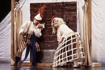 Pyramus and Thisbe - l-r: Stafford Dean (Bottom / Pyramus), Alexander Oliver (Flute / Thisbe) in A MIDSUMMER NIGHT'S DREAM by Benjamin Britten after Shakespeare at the The Royal Opera, Covent Garden,...