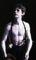 Dexter Fletcher (Puck) in A MIDSUMMER NIGHT'S DREAM by Benjamin Britten at Sadler's Wells, London EC1 24/10/1990  an Opera London production music: Benjamin Britten libretto: Benjamin Britten & Pe...