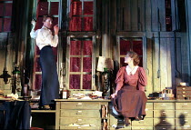 l-r: Aisling O'Sullivan (Anna), Anne-Marie Duff (Lyudmilla) in VASSA by Maxim Gorky at the Albery Theatre, London WC2 20/01/1999  an Almeida Theatre Company production adapted and directed by Howa...