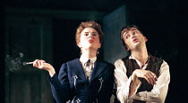 Aisling O'Sullivan (Anna), David Tennant (Pavel) in VASSA by Maxim Gorky at the Albery Theatre, London WC2 20/01/1999  an Almeida Theatre Company production adapted and directed by Howard Davies d...
