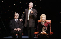 l-r: David Hargreaves (Professor Richie Baker), Michael Cashman (Harry Harper), Diane Fletcher (Alice Baker) in THE FOUR ALICE BAKERS by Fay Weldon at the Birmingham Repertory Theatre, Birmingham, Eng...
