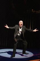 Michael Cashman (Harry Harper) in THE FOUR ALICE BAKERS by Fay Weldon at the Birmingham Repertory Theatre, Birmingham, England 23/02/1999  design: Ruari Murchison lighting: Tim Mitchell director:...