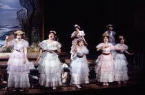 centre: Bonnie Langford (Kate) in THE PIRATES OF PENZANCE by Gilbert & Sullivan at the Theatre Royal Drury Lane, London WC2 26/05/1982  music: Arthur Sullivan lyrics: W S Gilbert set design: Bob S...