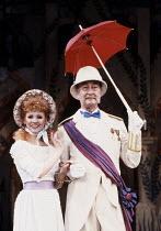 Bonnie Langford (Mabel), Frank Thornton (The Major General) in THE PIRATES OF PENZANCE by Gilbert & Sullivan at the London Palladium, London W1 26/03/1990  music: Arthur Sullivan lyrics: W S Gilbe...