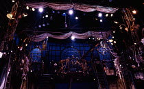 set for the ship in MOBY DICK at the Piccadilly Theatre, London W1 17/03/1992  book & lyrics: Robert Longden music: Hereward Kaye & Robert Longden set design: Paul Farnsworth costumes: Howard Rayn...