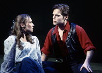 Joanna Riding (Julie Jordan), Michael Hayden (Billy Bigelow) in CAROUSEL by Rodgers & Hammerstein at the Lyttelton Theatre, National Theatre (NT), London SE1 12/1992  music: Richard Rodgers book &...