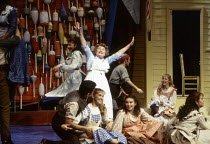 June Is Bustin' Out All Over: Patricia Routledge (Nettie Fowler) in CAROUSEL by Rodgers & Hammerstein at the LytteltonTheatre, National Theatre (NT), London SE1 12/1992  music: Richard Rodgers boo...