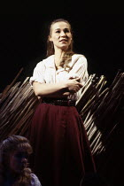 Joanna Riding (Julie Jordan) in CAROUSEL by Rodgers & Hammerstein at the Lyttelton Theatre, National Theatre (NT), London SE1 12/1992  music: Richard Rodgers book & lyrics: Oscar Hammerstein II de...