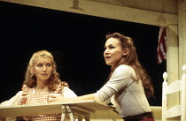 l-r: Katrina Murphy (Carrie Pipperidge), Joanna Riding (Julie Jordan) in CAROUSEL by Rodgers & Hammerstein at the Shaftesbury Theatre, London WC1 10/09/1993  a National Theatre production music: R...