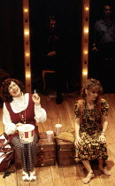 l-r: Louise Gold (Sara Jane Moore), Cathryn Bradshaw (Lynette 'Squeaky' Fromme) in ASSASSINS at the Donmar Warehouse, London WC2 29/10/1992  music & lyrics: Stephen Sondheim book: John Weidman des...