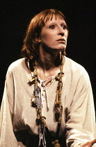Charlotte Cornwell (Joan La Pucelle) in HENRY VI part i by Shakespeare at the Royal Shakespeare Company (RSC), Aldwych Theatre, London WC2 06/04/1978  music: Guy Woolfenden design: Farrah lighting...