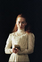 Tara Fitzgerald (Ophelia) in HAMLET by Shakespeare at the Hackney Empire, London E8 28/02/1995  an Almeida Theatre production set design: Peter J Davidson costumes: James Acheson lighting: Mark He...