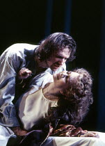 Ralph Fiennes (Hamlet), Francesca Annis (Gertrude) in HAMLET by Shakespeare at the Hackney Empire, London E8 28/02/1995  an Almeida Theatre production set design: Peter J Davidson costumes: James...