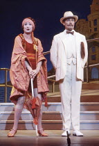 Anna Quayle (Madame Dubonnet), Derek Waring (Percival Browne) in THE BOY FRIEND at The Old Vic, London SE1 12/08/1984  book, music & lyrics: Sandy Wilson set design: Robin Don costumes: Johan Enge...
