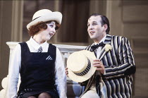 Lesley Garrett (Yum-Yum), Bonaventura Bottone (Nanki-Poo) in THE MIKADO by Gilbert & Sullivan at English National Opera (ENO), London Coliseum, London WC2 27/09/1986  conductor: Peter Robinson set...