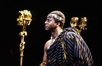 Gordon Case (Amda) in INDIGO by Heidi Thomas at the Thomas Royal Shakespeare Company (RSC), The Other Place, Stratford-upon-Avon 08/07/1987  design: Roger Glossop lighting: Paul Denby director: Sa...