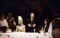 centre: Catherine White (Aminta), Linus Roache (Don Juan Tenorio) in THE LAST DAYS OF DON JUAN by Nick Dear at the Royal Shakespeare Company (RSC), Swan Theatre, Stratford-upon-Avon 05/04/1990  af...