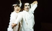 Sarah Walker (Katisha), Richard Suart (Ko-Ko) in THE MIKADO by Gilbert & Sullivan at English National Opera (ENO), London Coliseum, London WC2 21/02/1990 conductor: Justin Brown set design: Stefan...