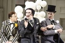 l-r: Barry Banks (Nanki-Poo), Richard Suart (Ko-Ko), Richard van Allan (Pooh-Bah) in THE MIKADO by Gilbert & Sullivan at English National Opera (ENO), London Coliseum, London WC2 21/02/1990 conduc...