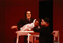 Sharon Hinds (Georgina) in A CLOCKWORK ORANGE 2004 at the Royalty Theatre, London WC2 26/05/1990  a Royal Shakespeare Company production written by Anthony Burgess in collaboration with Ron Daniel...