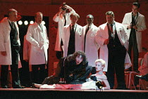 Phil Daniels (Alex), Natalie Roles (The Nurse) in A CLOCKWORK ORANGE 2004 at the Royalty Theatre, London WC2 26/05/1990  a Royal Shakespeare Company production written by Anthony Burgess in collab...