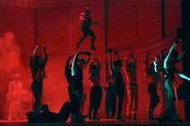 Droogs and dancers in A CLOCKWORK ORANGE 2004 at the Royalty Theatre, London WC2 26/05/1990  a Royal Shakespeare Company production written by Anthony Burgess in collaboration with Ron Daniels mus...