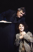 Peter Wight (The Prison Chaplain), Phil Daniels (Alex) in A CLOCKWORK ORANGE 2004 at the Barbican Theatre, London EC2 06/02/1990  a Royal Shakespeare Company production written by Anthony Burgess...