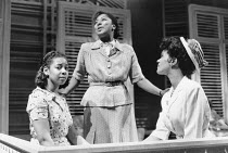 l-r: Joan-Ann Maynard (Olga), Joanne Campbell (Irene), Pauline Black (Marsha) in TRINIDAD SISTERS by Mustapha Matura at the Donmar Warehouse, London WC2 11/02/1988  a Tricycle Theatre production d...