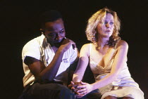 Lennie James (Burt), Miranda Richardson (Etta) in ETTA JENKS by Marlane Gomard Meyer at the Royal Court Theatre, London SW1 05/11/1990  design: William Dudley lighting: Mark Henderson director: Ma...