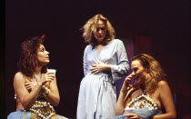 l-r: Sara Stewart (Kitty), Miranda Richardson (Etta), Debora Weston (Sheri) in ETTA JENKS by Marlane Gomard Meyer at the Royal Court Theatre, London SW1 05/11/1990  design: William Dudley lighting...