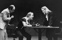 l-r: Robin Soans (Spencer), Christopher Fairbank (James), Miranda Richardson (Etta) in ETTA JENKS by Marlane Gomard Meyer at the Royal Court Theatre, London SW1 05/11/1990  design: William Dudley...