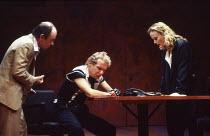 l-r: Robin Soans (Spencer), Christopher Fairbank (James), Miranda Richardson (Etta) in ETTA JENKS by Marlane Gomard Meyer at the Royal Court Theatre, London SW1 05/11/1990  design: William Dudley...