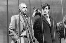 Nigel Hawthorne (Blair), Roger Rees (Kerner) in HAPGOOD by Tom Stoppard at the Aldwych Theatre, London WC2 08/03/1988  design: Carl Toms lighting: David Hersey director: Peter Wood