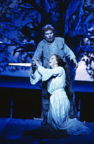 Josephine Barstow (Sieglinde), Alberto Remedios (Siegmund) in THE VALKYRIE by Wagner at English National Opera (ENO), London Coliseum 22/10/1983 conductor: Mark Elder design: Maria Bjornson direct...