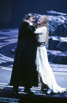 Anthony Raffell (Wotan), Linda Esther Gray (Brunnhilde) in THE VALKYRIE by Wagner at English National Opera (ENO), London Coliseum 22/10/1983 conductor: Mark Elder design: Maria Bjornson director:...