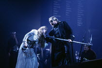 Linda Esther Gray (Brunnhilde), Anthony Raffell (Wotan) in THE VALKYRIE by Wagner at English National Opera (ENO), London Coliseum 22/10/1983 conductor: Mark Elder design: Maria Bjornson director:...