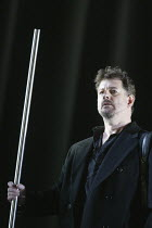 Robert Hayward (Wotan) in THE VALKYRIE by Wagner at English National Opera (ENO), London Coliseum 08/05/2004 conductor: Paul Daniel design: Richard Hudson lighting: Mark Henderson director: Phylli...