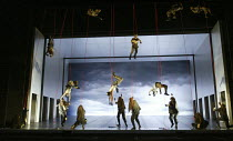 Act 3: Valhalla - the Valkyrie recover the souls of fallen heroes in THE VALKYRIE by Wagner at English National Opera (ENO), London Coliseum 08/05/2004 conductor: Paul Daniel design: Richard Hudso...